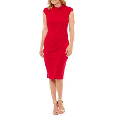 Liz Claiborne Cap Sleeve Sheath Dress