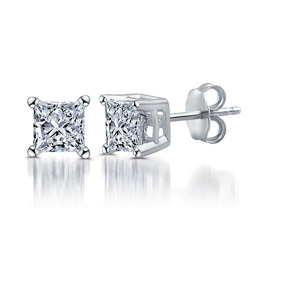 Classic Collection 1 CT. T.W. Genuine White Diamond 10K White Gold 5.2mm Stud Earrings