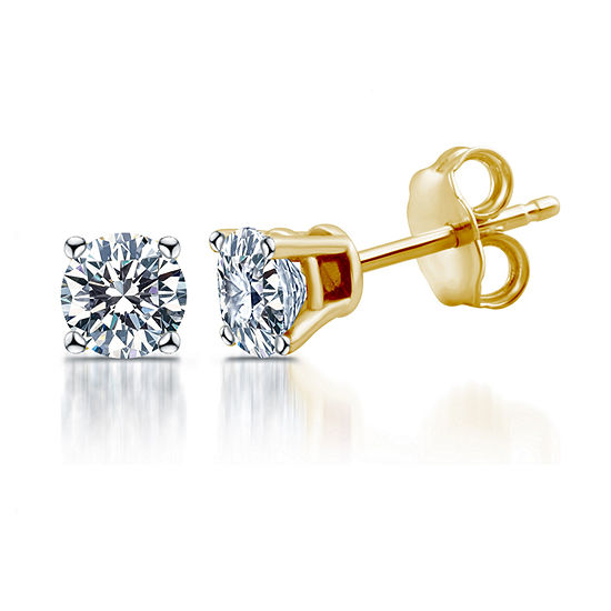 Deluxe Collection 1 CT. T.W. Genuine White Diamond 14K Gold 5.2mm Stud Earrings