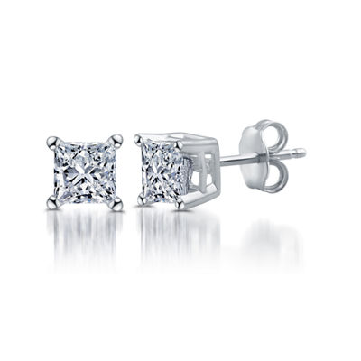 Classic Collection 1/2 CT. T.W. Genuine White Diamond 10K White Gold 3.9mm Stud Earrings