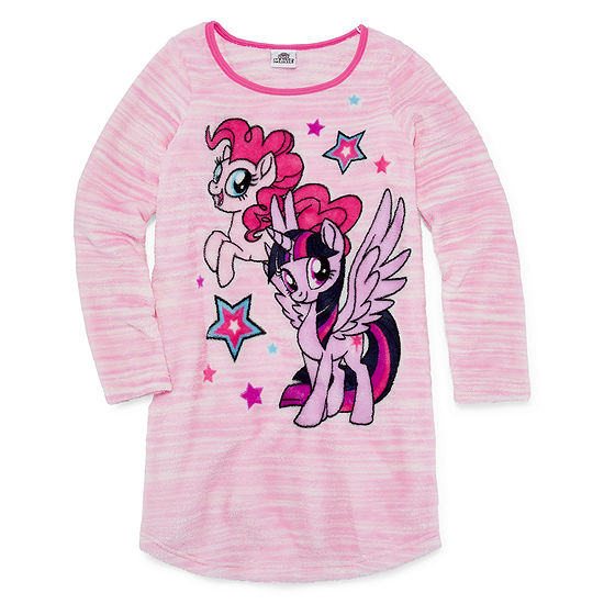 Hasbro Girls Nightgown My Little Pony Long Sleeve Crew Neck