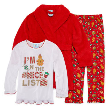 Girls Pajamas + Robe Set-Toddler