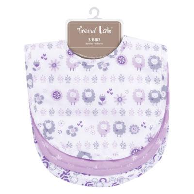Trend Lab Lambs Girls 3-pc. Bib