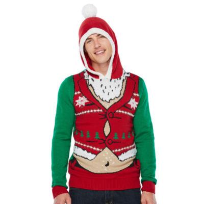 Ugly Christmas Santa Graphic Hoodie