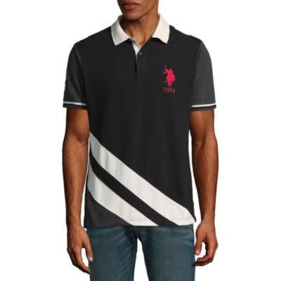 U.S. Polo Assn. Embroidered Short Sleeve Knit Polo Shirt