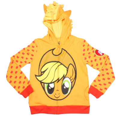 My Little Pony Girls Applejack Costume Hoodie with Crystalline and 3D Mane