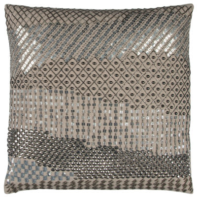 "Donny Osmond By Rizzy Home Geometric Disco 20"" X 20"" Natural Decorative Filled Pillow"