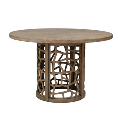 INK + IVY Crackle Round Dining Table