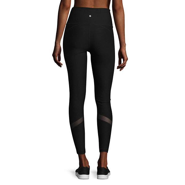 Xersion High Rise 7/8 Mesh Inset Moto Leggings