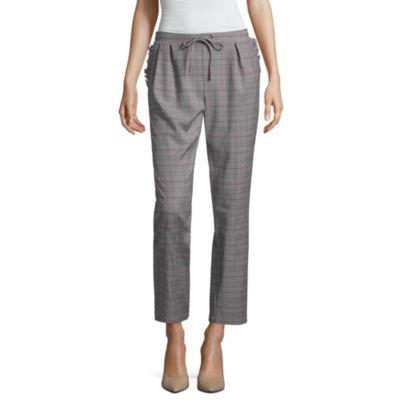 Project Runway Ruffle Pocket Plaid Pants