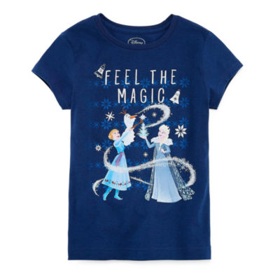 Disney Short Sleeve Frozen Graphic T-Shirt-Big Kid