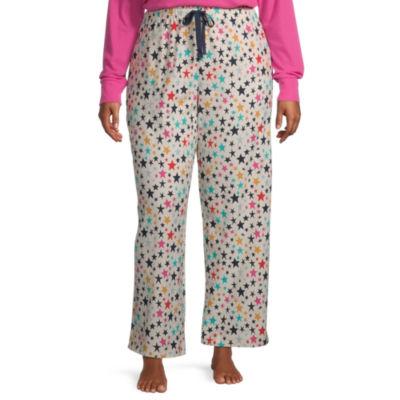 Sleep Chic Womens-Plus Flannel Pajama Pants