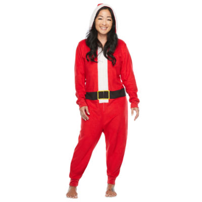North Pole Trading Co. Santa Unisex Adult Microfleece Long Sleeve One Piece Pajama