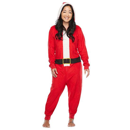 North Pole Trading Co. Santa Unisex Adult Microfleece Long Sleeve One Piece Pajama