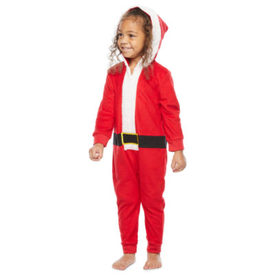 North Pole Trading Co. Santa Toddler Unisex Knit Long Sleeve One Piece Pajama