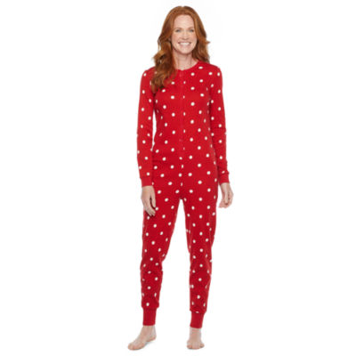 North Pole Trading Co. Tis The Varsity Season Womens Long Sleeve One Piece Pajama