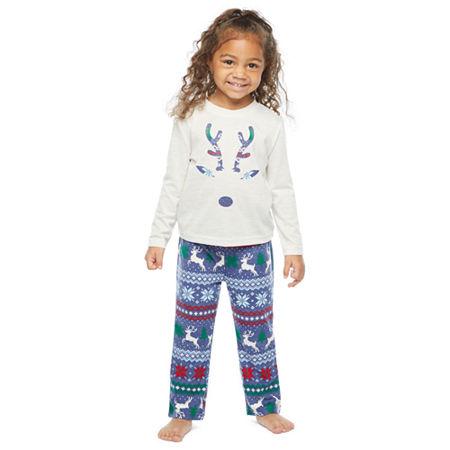 North Pole Trading Co. Fairisle Toddler Unisex 2-pc. Christmas Pajama Set, 3t , Blue
