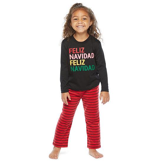 North Pole Trading Co. Feliz Navidad Toddler Unisex 2-pc. Christmas Pajama Set