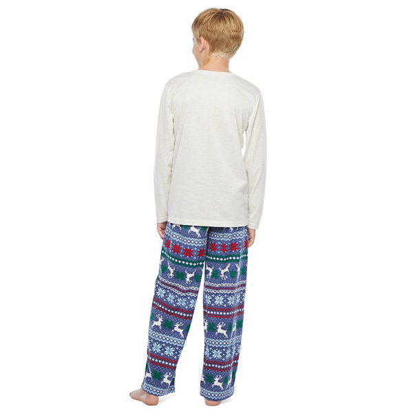 North Pole Trading Co. Fairisle Little & Big Unisex - Husky 2-pc. Christmas Pajama Set
