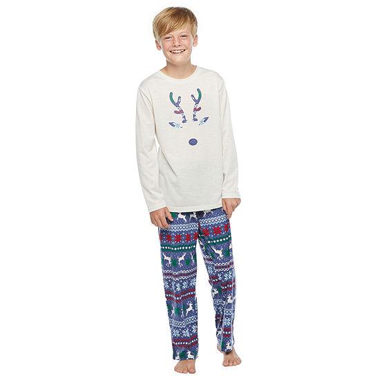 North Pole Trading Co. Fairisle Little & Big Unisex - Husky 2-pc. Christmas Pajama Set