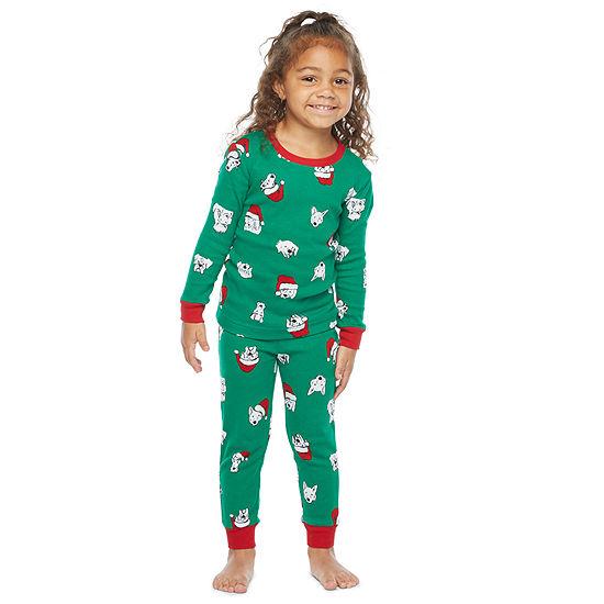 North Pole Trading Co. Happy Howlidays Toddler Unisex 2-pc. Christmas Pajama Set