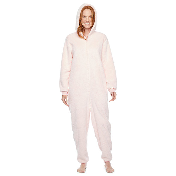 North Pole Trading Co. It'S Cold Outside Womens Plush Long Sleeve One Piece Pajama
