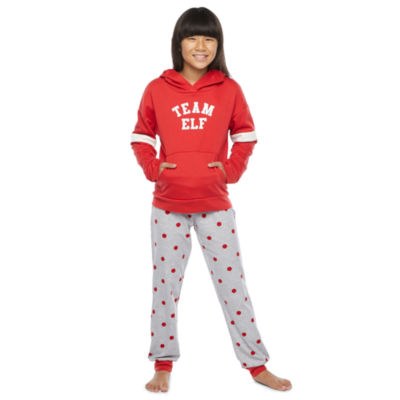 North Pole Trading Co. Tis The Varsity Season Little & Big Girls Christmas Pajama Set 2-pc.