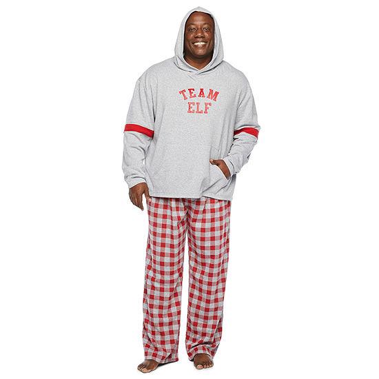 North Pole Trading Co. Tis The Varsity Season Mens-Big and Tall Long Sleeve Pant Pajama Set 2-pc.