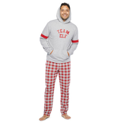 North Pole Trading Co. Tis The Varsity Season Mens Long Sleeve Pant Pajama Set 2-pc.