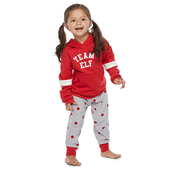 North Pole Trading Co. Long Sleeve Girls Pant Pajama Set 2-pc.