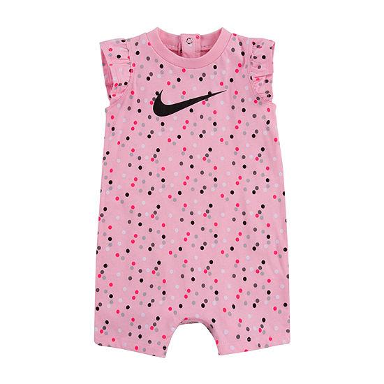 Nike Baby Girls Short Sleeve Romper