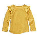 Okie Dokie Toddler Girls Round Neck Long Sleeve T-Shirt
