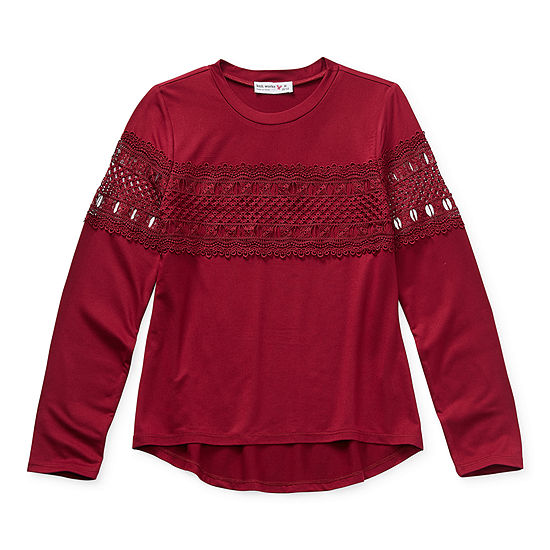 Knit Works Little & Big Girls Crew Neck Long Sleeve Tunic Top