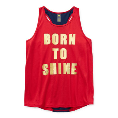 Xersion Little & Big Girls U Neck Tank Top