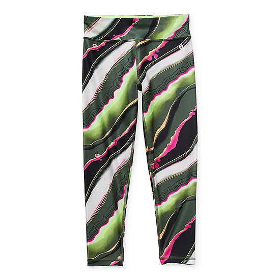 Xersion Little & Big Girls High Rise 7/8 Ankle Leggings