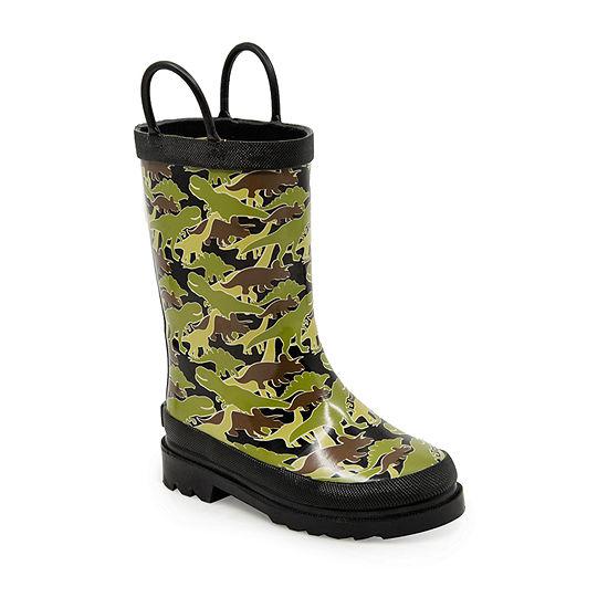 London Fog Toddler Unisex Stone Leigh Rain Flat Heel Boots