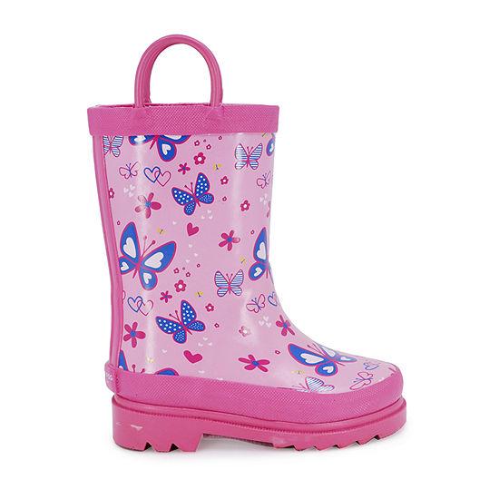 London Fog Toddler Unisex Karlesey Flat Heel Rain Boots