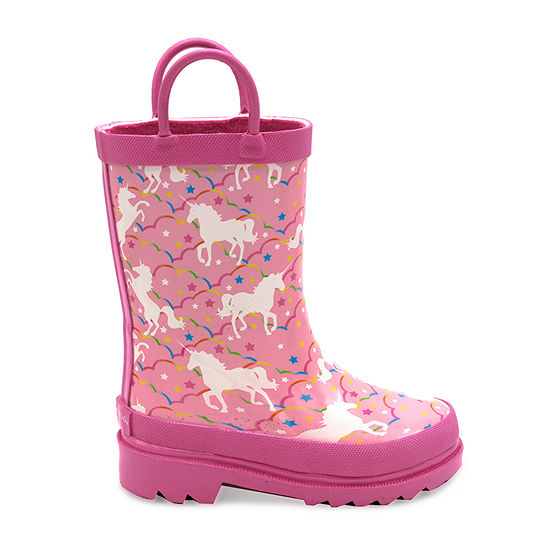 London Fog Toddler Unisex Karlesey Rain Flat Heel Boots