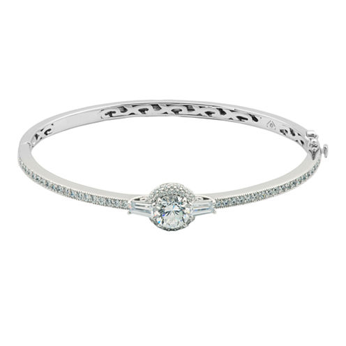 100 Facets by DiamonArt® Cubic Zirconia & Diamond-Accent Bangle