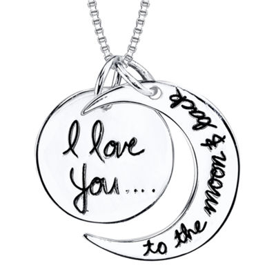 "Inspired Moments™ Sterling Silver ""I Love You To The Moon and Back"" Pendant Necklace"