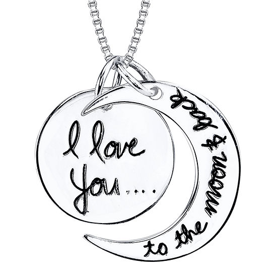 inspired moments sterling silver quoti love you to the moon