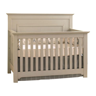 Centennial Chesapeake Full Panel Lifetime 4-in-1 Crib - Light Grey