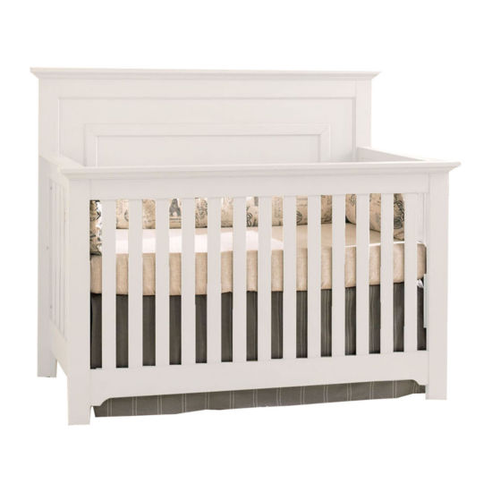 Centennial Chesapeake Full Panel Lifetime 4-in-1 Crib - White