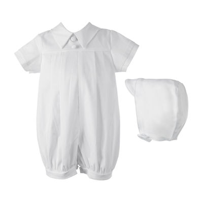 Keepsake® Christening Romper Gown - Boys newborn-24m