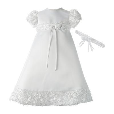 Keepsake® Christening Dress and Headband Set - Baby Girls