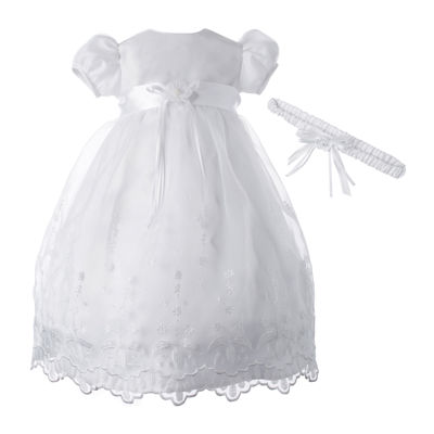 Keepsake® Christening Dress and Headband Set – Baby Girls