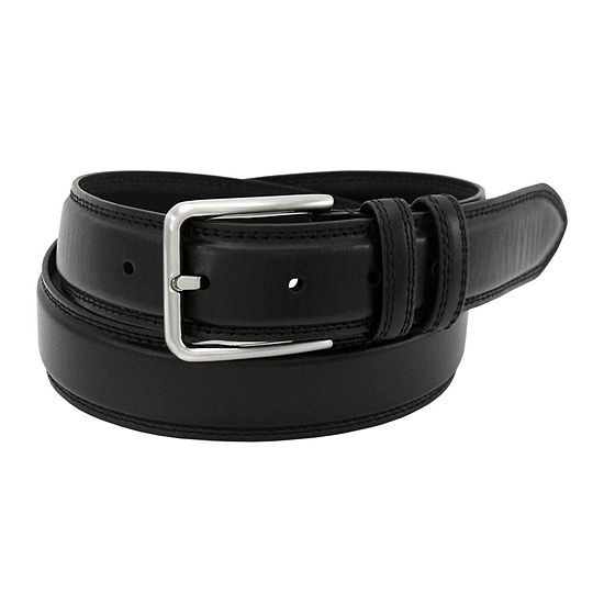Stacy Adams® 35MM Leather Belt with Double Keeper