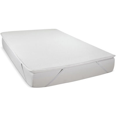 "Snuggle Home™ 2"" Dunlop Latex Mattress Topper with Memory Foam Comfort Layer"