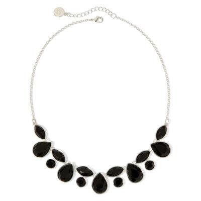 Liz Claiborne® Black Faceted Stone Necklace