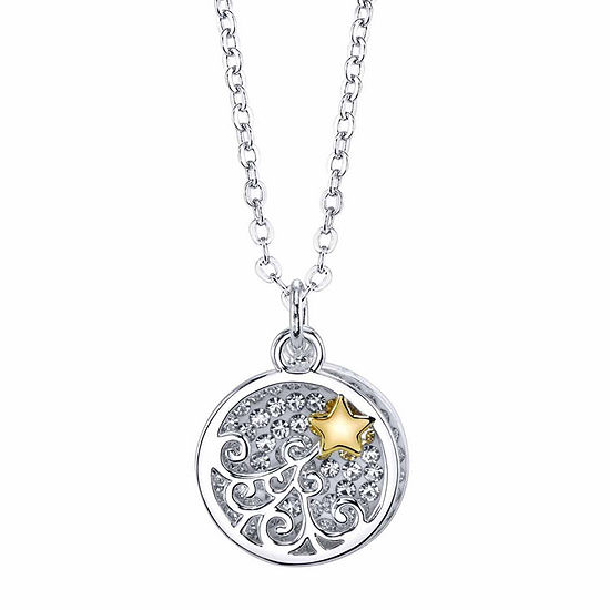 Sparkle Allure Crystal 18 Inch Cable Star Pendant Necklace